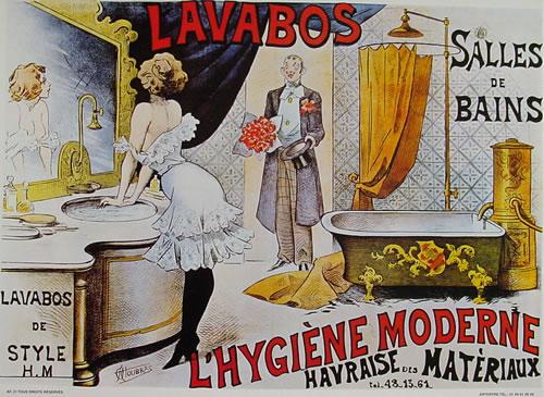 Posters vintage caf em paris for Poster pour salle de bain