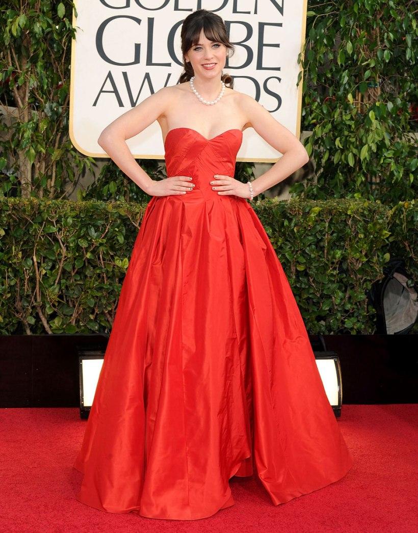 Golden-Globes-2013-Zoey-Deschanel