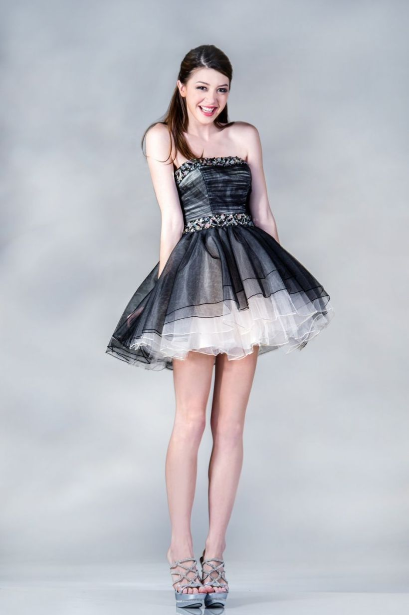 ncinoch1280bk_black_strapless_tulle_mesh_overlayed_cute_short_a-line_dress_for_homecoming_prom_and_sweet_16