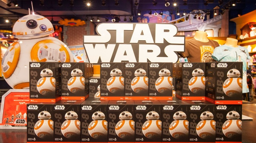 "Chicago kicked off midnight madness with ""Force Friday"" celebrating the launch of merchandise for Star Wars: The Force Awakens, on Friday, Sept. 4, 2015, at the Michigan Ave Disney Store in Chicago. (Photo by Barry Brecheisen/Invision for Disney Consumer Products/AP Images)"