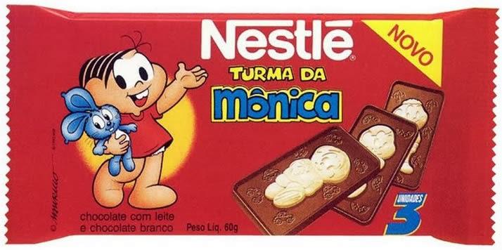 chocolate turma da mônica nestlé 1995