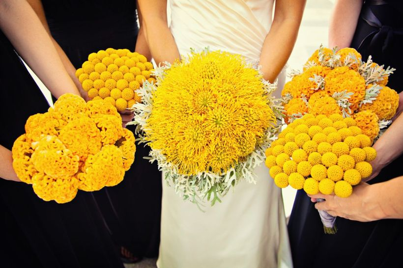 yellow-single-flower-bouquets