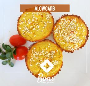 Salgado proteico low carb couve-flor+frango