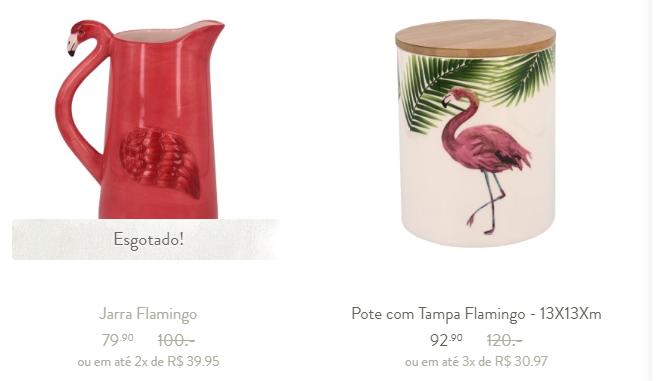 flamingos potes