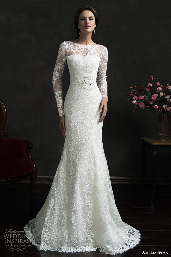 Chic-Lace-Mermaid-Long-Sleeve-Wedding-Dresses-Backless-Bridal-Gowns-2015-Famous-Designer-With-Train-Romantic