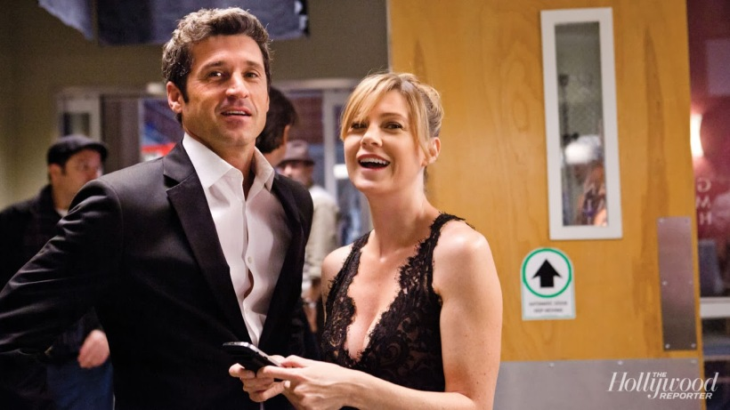 Patrick Dempsey and Elle Pompeo in Grey's Anatomy